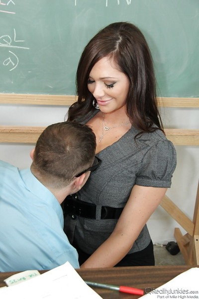 Slutty educator skates on her naughty student