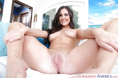 Brunette wife Brittany Shae is delighted to wiggle her but in pink underclothing