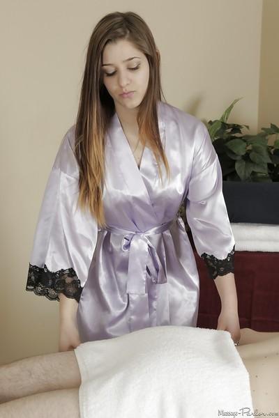 Dirty-minded girl gives a fleshly massage and has some 69 enjoyment