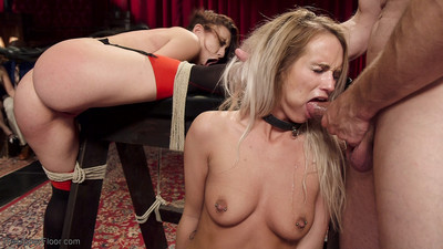 Shy and proper southern belle is trained by big a-hole anal servant mandy muse in h