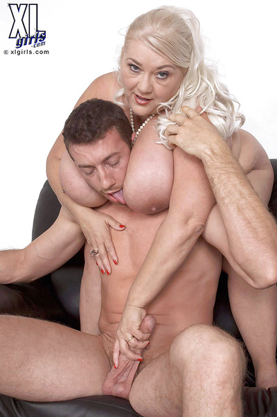 Chubby mature with great juggs gets screwed hardcore in elastic positions