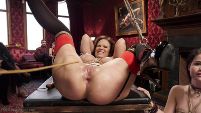 Gorgeous babe slave yhivi is ready to hand her ass to the upper floor as propert