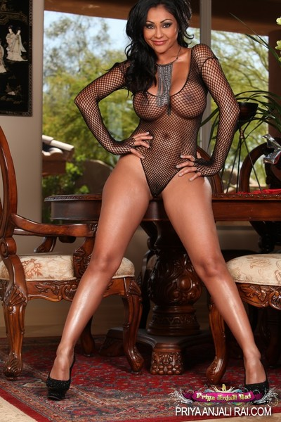Sexy perceive thru lingerie and a largest black cock is just what appealing Indian Priya Anjali Rai wanted.