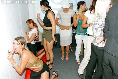 Ravishing european sluts are fond of hardcore groupie in the night club