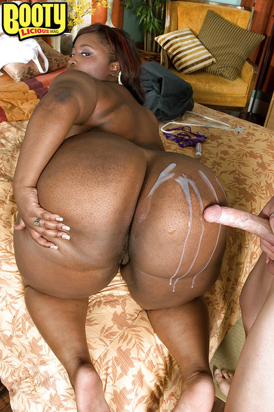 Black bbw girl Mz Waste stripped from tight jeans and purchases sex cream on her heavy ass