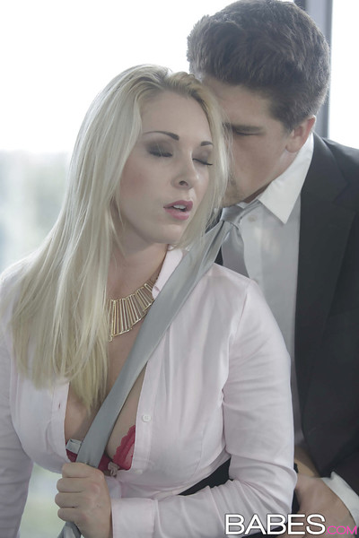 Hardcore office sex from big ramrod for busty Euro blonde Victoria Summer