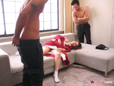 Yuki Tsukamoto gets her holes filled up with punk cocks.