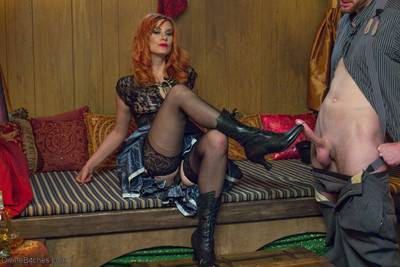 Pleasuring halloween from the divine bitches! maitresse madeline marlowe leads a trav