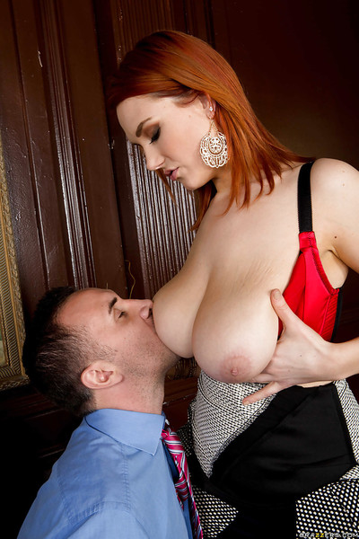Redhead office lady Siri makes champs extreme with her melons and skills