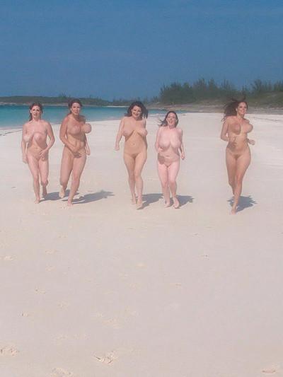 Top boobsy pornstars at casting on beach