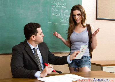 Innocent coed Molly Jane gives her teacher a very deep gratification