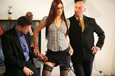 Office lady with big meatballs Mira acquires fucked in the ass by her boss.