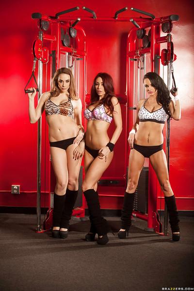 Monique Alexander, Chanel Preston and Alektra Blue create lesbian club