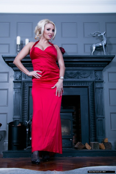 Stunning babe Dannii Harwood is the lady in red! Shes come previously abode concupiscent from a party wearing a gorgeous silky red dress, and cant resist a tease and a play!