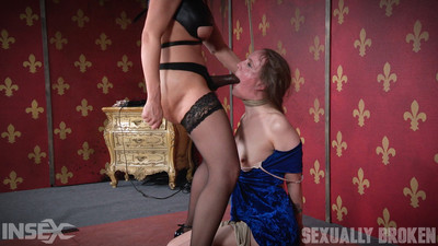 Sensation bitch sierra cirque united on her knees and brutally face fucked!