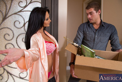 Ava Addams is horny for younger pecker so she fucks her sons friend.