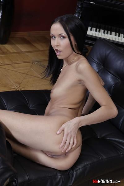 Flat chested slut enjoys backdoor sex and dp fucking in mmf threesom
