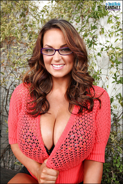 Beautiful large tit MILF with extreme outfit and wearing her glasses