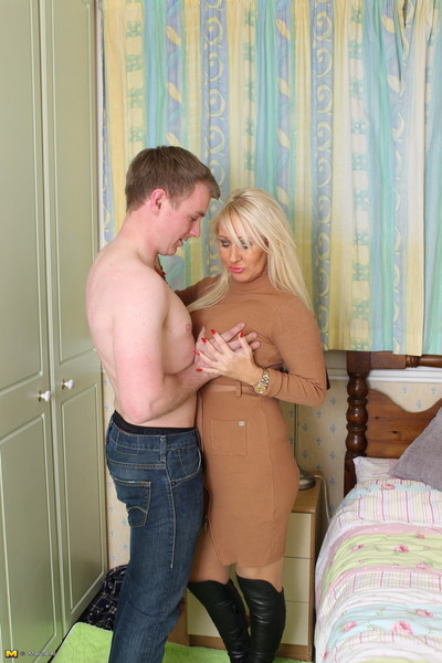 Naughty hot british housewife playing with teen lover