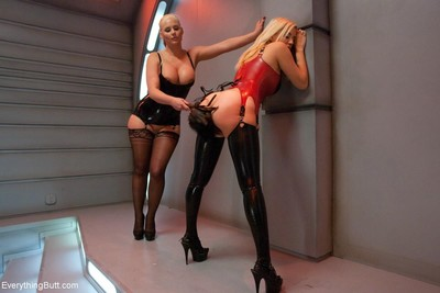 Fucking sexy babe gets anal penetrated by kinky duet