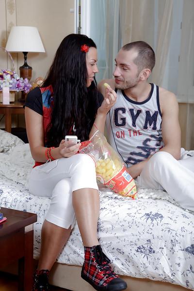 Brunette Latina Adelaida bares tiny boobs sooner than hardcore sex with massive pecker