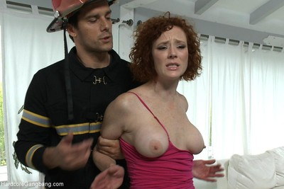 Astonishingly appealing chicito gets group-bonked by group of kinky firemen