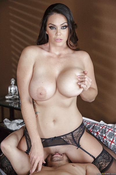 Brown hair pornstar Alison Tyler sucks off thick cock for cum sucking