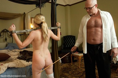 Sexy model gets tied up, dominated and severe drilled in bondage