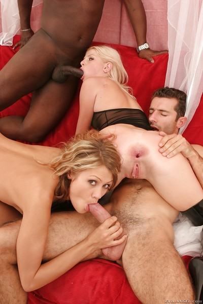 Lecherous hotties have some tough anal fun with two big boners