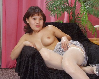 Nasty thhai girl in stockings astonishingly and revealing her bosoms