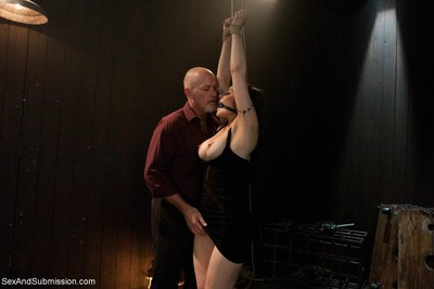 Sexy beauty gets fastened up, dominated and hard drilled in bondage
