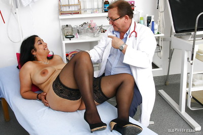 Thick Indian lady Alice having boobs examined by gyno doctor