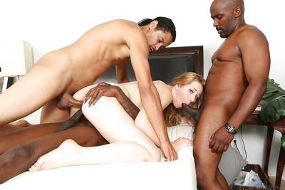 Interracial groupsex with Kristen Kross, who enjoys orgy