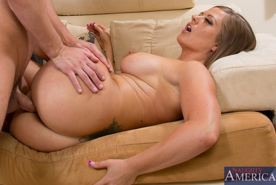 Holly Heart is horny for her sons comrade and she fall in love with riding his cock.