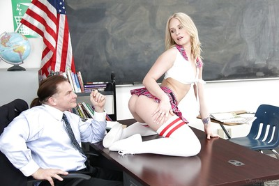 Petite Young year old blond schoolgirl Dakota James having rectal hole licked out