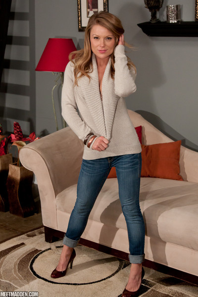 Madden sweater and jeans