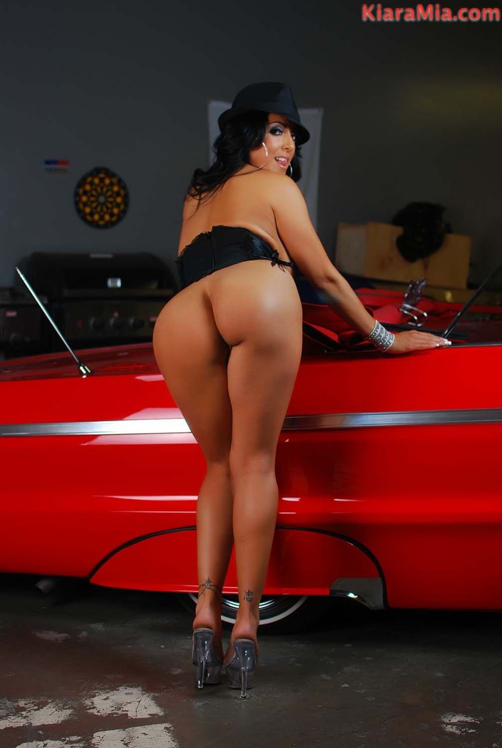 Untamed chicana kiara mia positions next to this low rider. this sweetheart gains so sticky and lascivious s