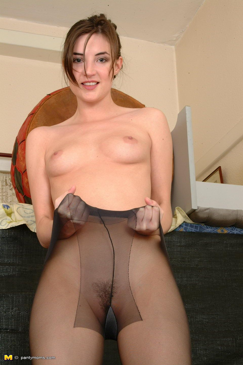 Mother lovely off her underwear