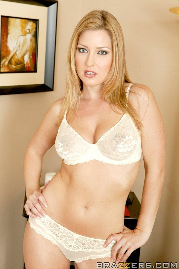 Fabulous MILF Avy Scott bare off off underclothes and discloses her fur pie