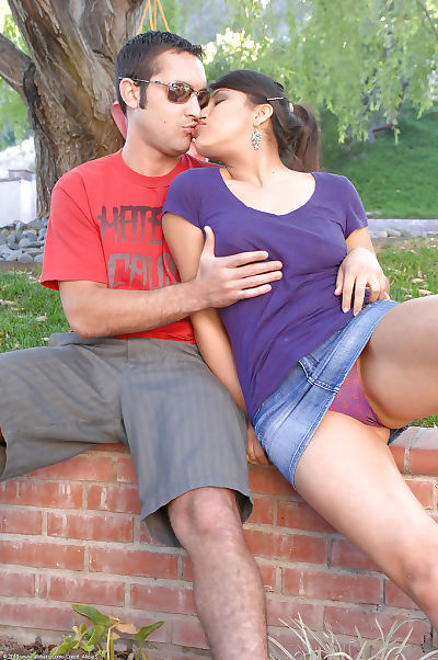 Young chicito Laurie heads to her favourite park for sexual act with her man
