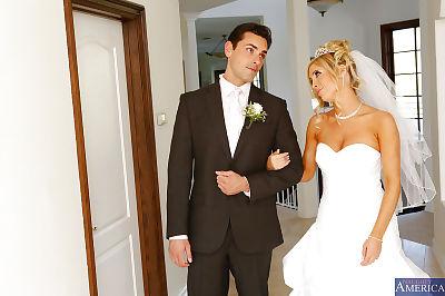Astonishing hotty Tasha Reign tastes a big pecker on her wedding