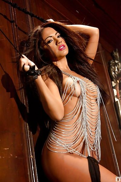 Latina centerfold pretty Jessica Burciaga showcasing her seductive curves