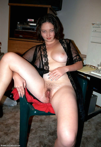 Fat youthful Eastern solo model playing with hairy uncovered pussy