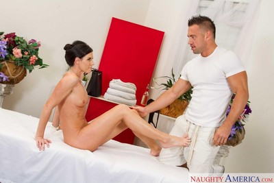 India summer fucked hard after a rub dowm