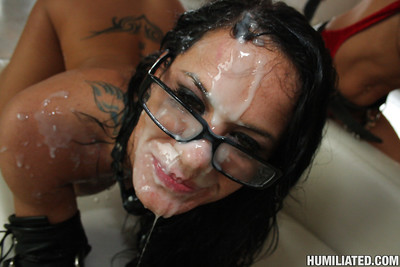 Gorgeous babe Savannah Stern receives drilled with bukkake on her face