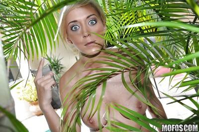 Voyeur spies on blond hottie Jewel Jensen exercising and undressing