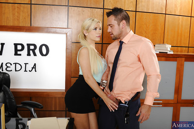 Cute blonde whore loves to be subterranean fucked in the office