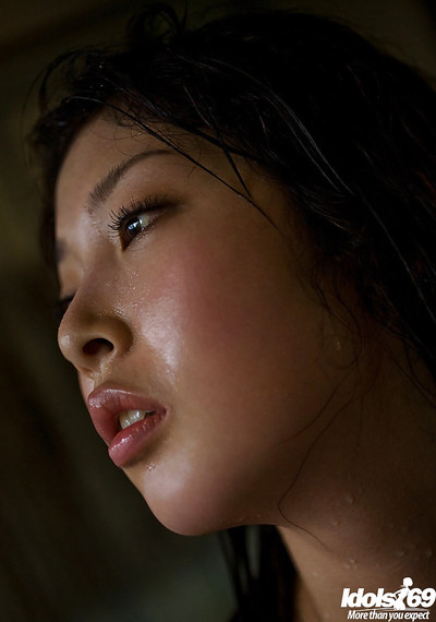 Bosomy eastern lass Saki Koto uncovering her seductive body