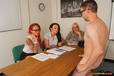 At PureCFNM we give our members the chance to be in scenes with our clammy girls. In this video we can see how one man got on in his interview to take part. This guy is interviewed by 3 beautiful babes asking him what distorts him on about CFNM. They then