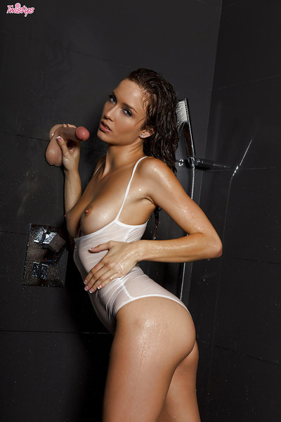Unforgettable pornstar babe Malena Morgan spends time in baths room